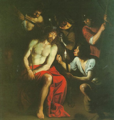 le christ à la couronne dépines by trophîme theophisme bigot the elder