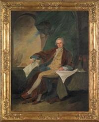 portrait of samuel blodget jr. (after john trumbull) by agnes allen