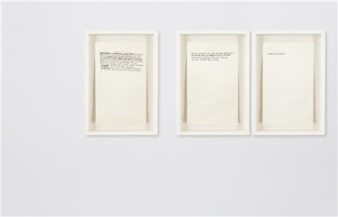 untitled 3 text pieces in 3 parts by jean michel basquiat