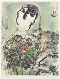 le fleuve by marc chagall