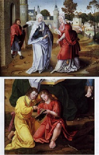 la visitation by master of the antwerp adoration