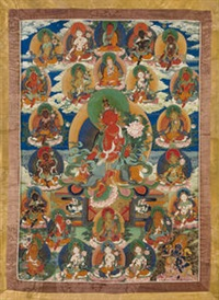 a thangka of red tara by anonymous-tibetan (18)