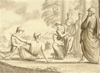 a bard performing by james barry
