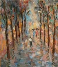 figures in the rain by sitton victor haim