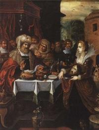 salomé apportant la tête de saint jean-baptiste dit le festin d'hérode by hieronymus francken the elder