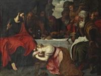 la madeleine aux pieds du christ ou le repas chez simon by artus wolfort