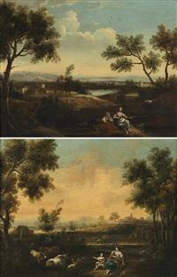 scene pastorali (pair) by anonymous (18)