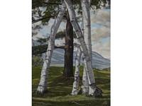 the pine through the birches by luigi lucioni