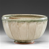 large faceted bowl by richard batterham