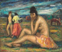 at the margin of the caravan, in the evening by paul scortesco