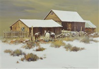 ponies in the snow by robert wagoner