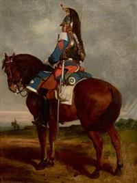 vedette (2ème régiment des cuirassiers de la garde) by auguste bachelin