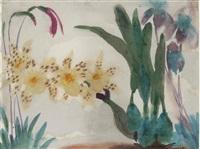 blumenstilleben mit orchideen by emil nolde