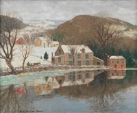 winter landscape by winfield scott clime