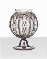 vase by daum and louis majorelle