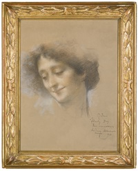 portrait of a lady, presumably madame hamdy by lucien lévy-dhurmer