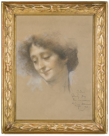 portrait of a lady presumably madame hamdy by lucien lévy dhurmer