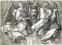 the sudarium held by two angels by albrecht dürer