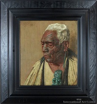wharekauri tahuna - a chieftain of the arawa tribe by charles frederick goldie