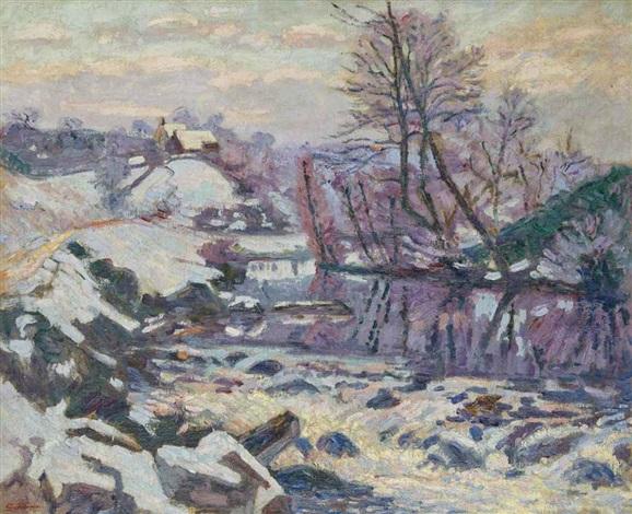 ecluse des bouchardonnes sous la neige by armand guillaumin