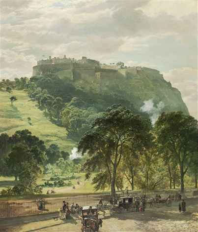 edinburgh castle from princes street by samuel bough