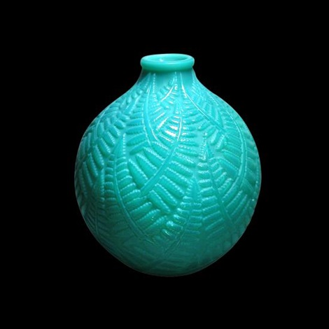 Espalion An R Lalique Green Cased Glass Vase By Ren Lalique On Artnet