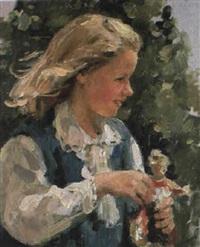 la fille avec la poupée by nadejda noukalo