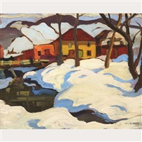 snowdrifts on the riverbank by kathleen daly pepper