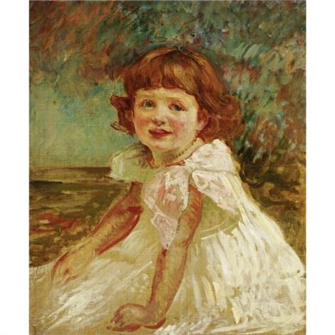 Portrait De La Petite Fille A La Robe Blanche By Jacques Emile Blanche On Artnet