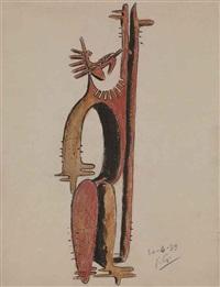 etude pour homme cactus (study) by julio gonzález