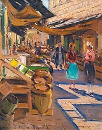 the market in jerusalem by ludwig blum