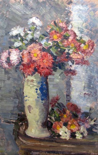 vase with flowers by costache agafitei