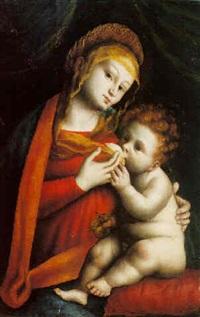 madonna and child by bernardino lanino