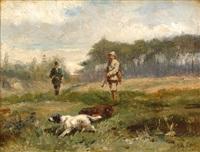 hunting scene by john frederik hulk the younger