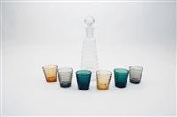 flasche mit gläsern bölgeblick (set of 7) by aino aalto
