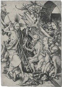 christ in limbo (from the passion of christ) by martin schongauer