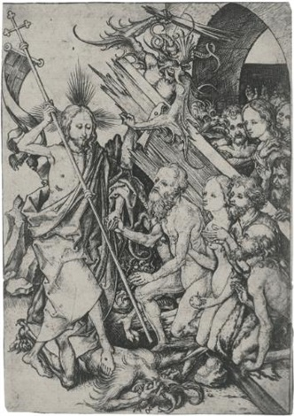 christ in limbo from the passion of christ by martin schongauer