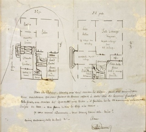 Plan De Maison By Alexandre Dumas Père On Artnet