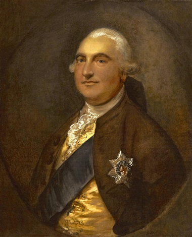 a portrait of william petty 1st marquess of lansdowne by thomas gainsborough