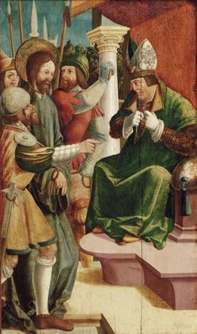 jesus vor dem hohepriester kajaphas by danube school 16