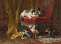 mother's pride by henriette ronner-knip