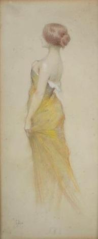 Robe jaune elegante