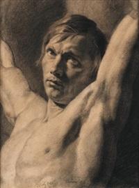homme (study) by françois joseph navez