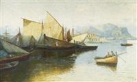 segelschiffe im hafen by erminio cremp
