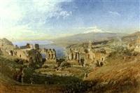vue de taormina, en sicile by gelina
