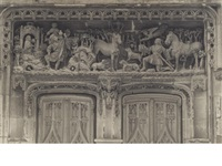 chateau amboise, sculpture of chapel door by frederick henry evans