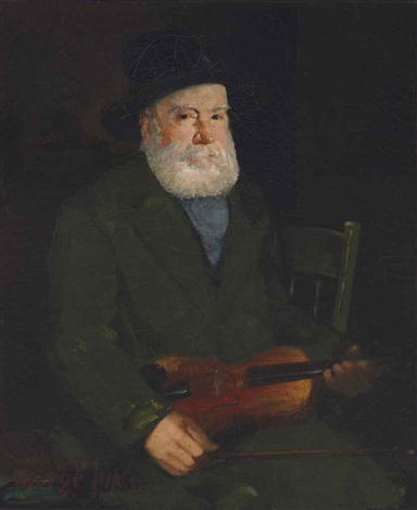 man with a violin by george benjamin luks