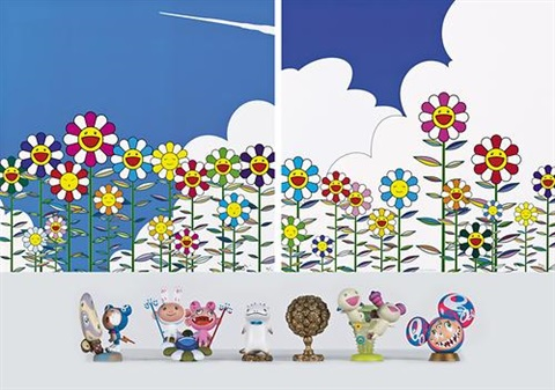 flower 3 works by takashi murakami