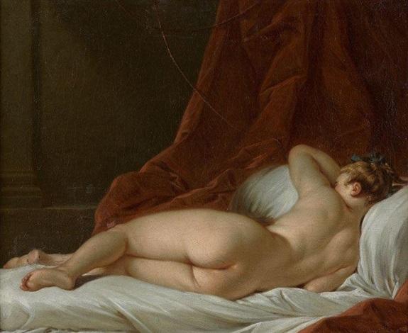 jeune femme nue étendue by françois boucher