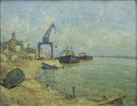 the danube at galati by paul atanasiu